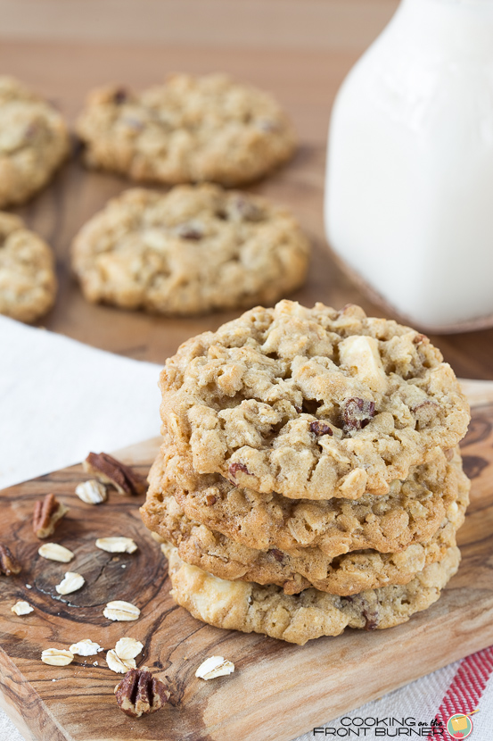 Oatmeal Cookies Red, White & Blue | Cooking on the Front Burner