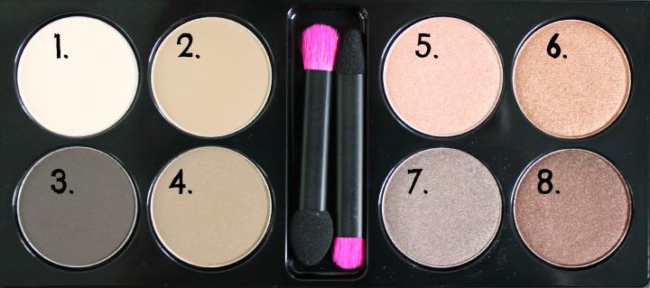 XO Pony X Memebox Eyeshadow Palette Shine Easy Glam #1 shades