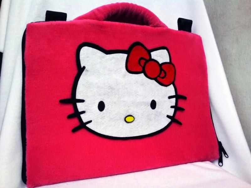 Gambar tas laptop hello kitty lucu warna merah