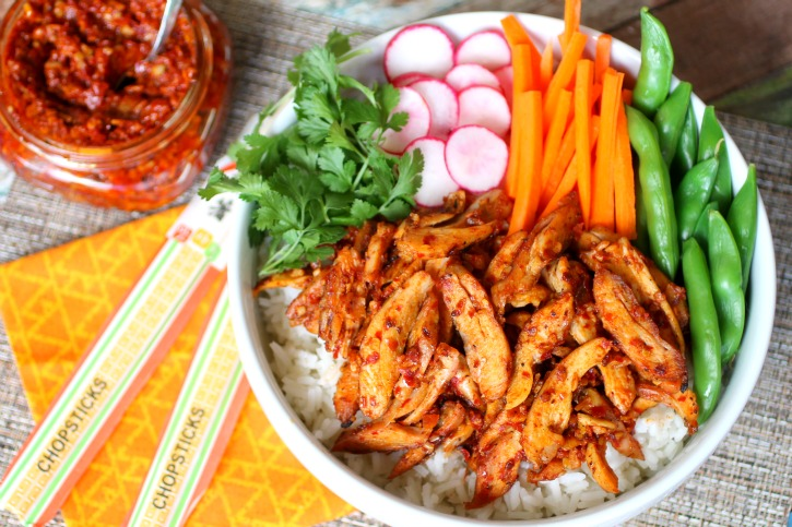 Hungry Harps: Spicy Szechuan Chicken Rice Bowls