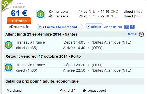 Transavia Porto Nantes