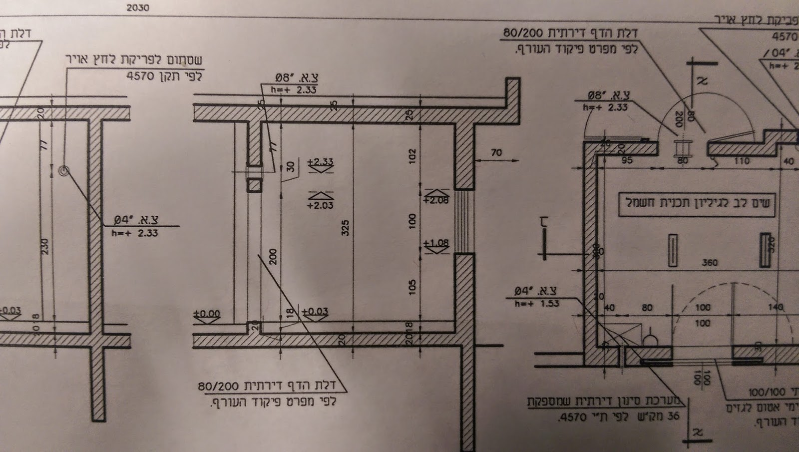 בניית בית פרטי - חתך צד של ממד