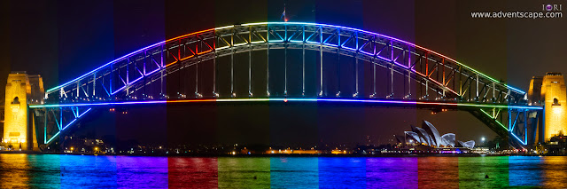 Philip Avellana, iori, adventscape, Darling. Harbour, Vivid. Sydney, 2015, light show, event, Sydney, NSW, New South Wales, Australia, Harbour Bridge