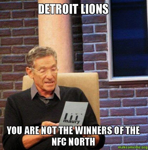 detroit lions you are not the winners of the nfc north