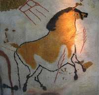 História e Arqueologia Lascaux,_horse