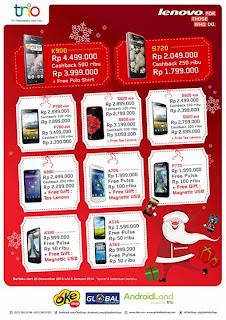 Promo Lenovo Cashback dan Bonus Pulsa + Gift