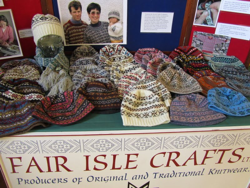 Fair Isle: Fair Isle Crafts Knitwear & Knitting table display for ...