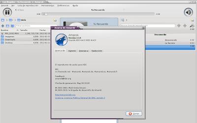 Imagen de Amarok en Debian Squeeze