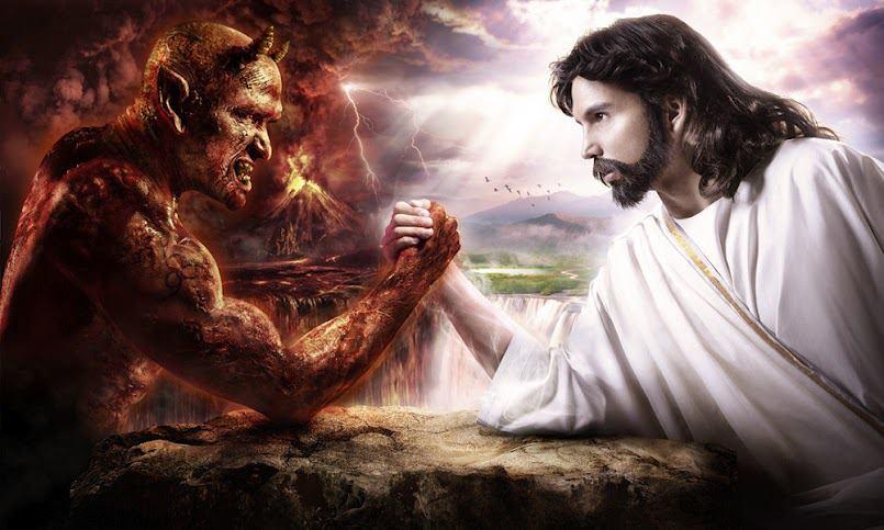 braccio di ferro tra satana e gesù