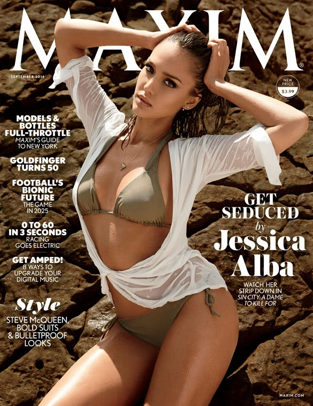 Jessica Alba - Maxim magazine, September 2014