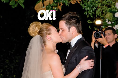 Celebrity wedding hilary duff wedding bells the kiss junglespirit Images