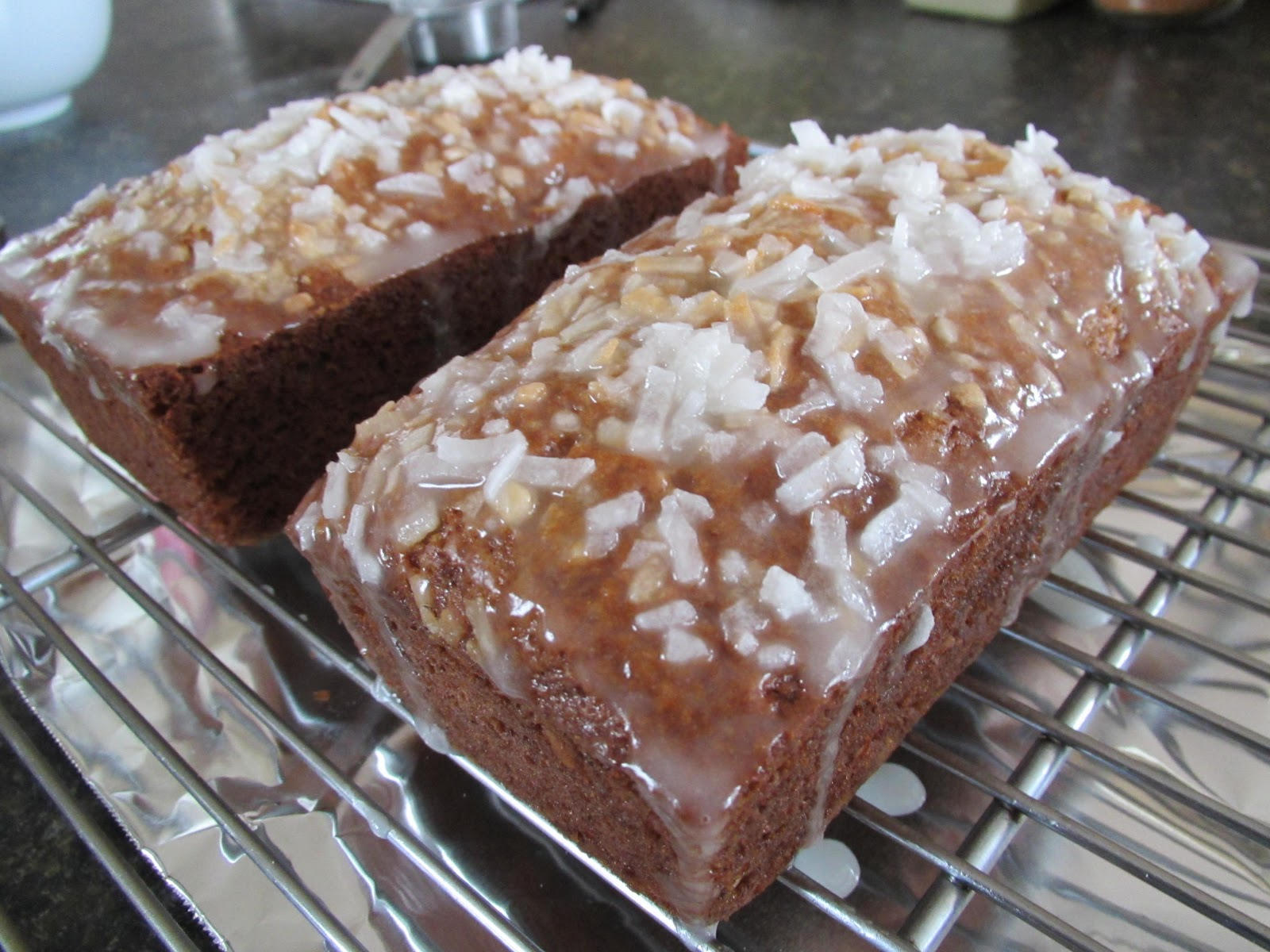 Successfully Gluten Free! : Coconut Banana Bread w/ Lemon Glaze