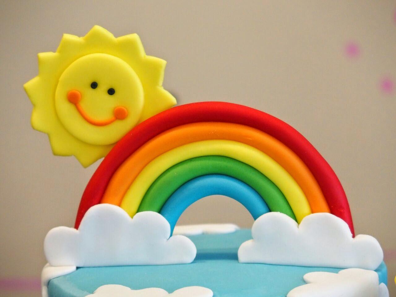 Rainbow Shaped Birthday Cake