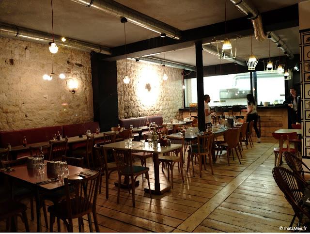 resto bar à burger BAB salle déco pierres apparentes ipn style industriel loft NY Paris 10
