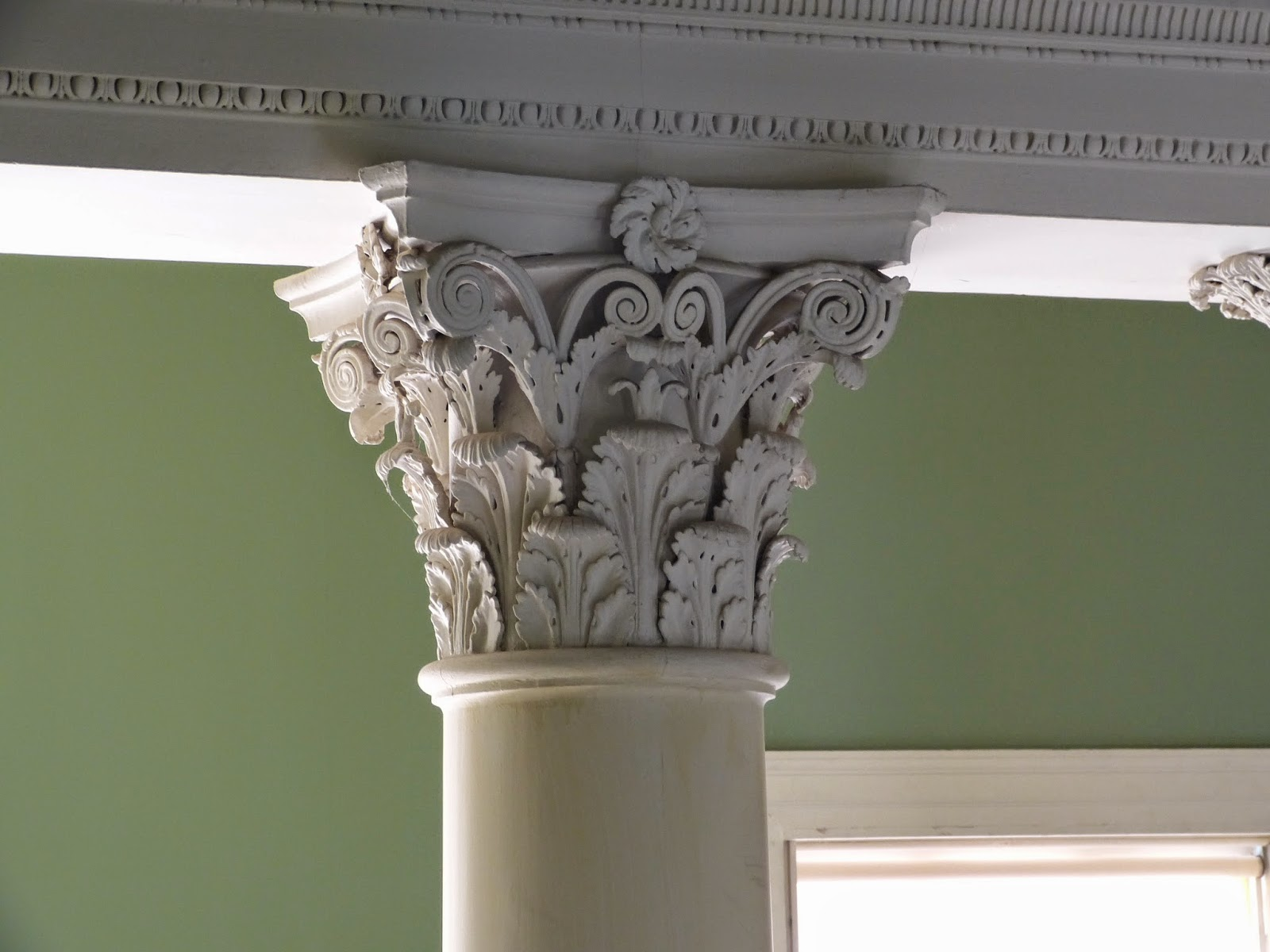 Detail from one of the pillars of the Great Stair, Osterley