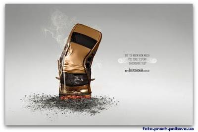 Рекламный постер кампании борьбы с курением