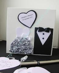 Księga gości weselnych w  formie pudełka