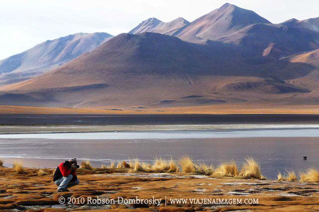 fotografando no deserto boliviano de lipez