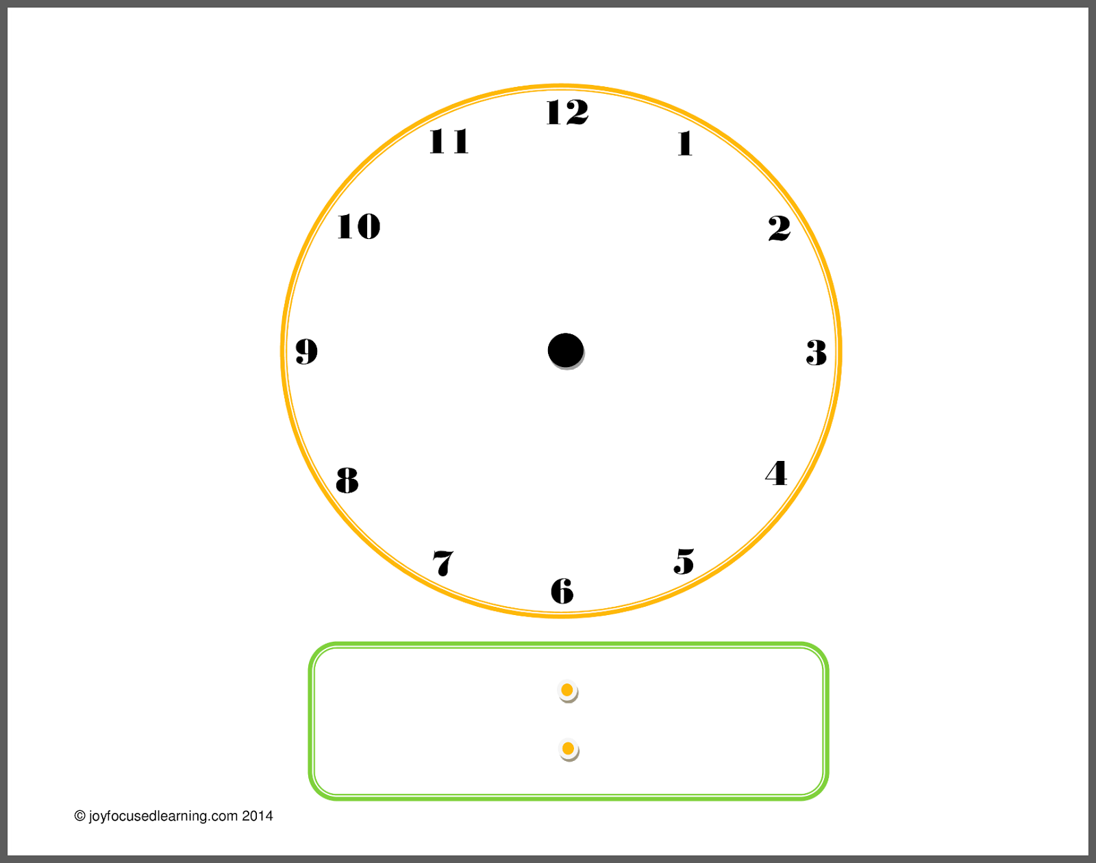 Days Of The Week In Spanish Printables I made a new clock printable