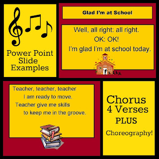 "photo of: Power Point Slide Examples for ""Glad I'm at School"" by Debbie Clement"