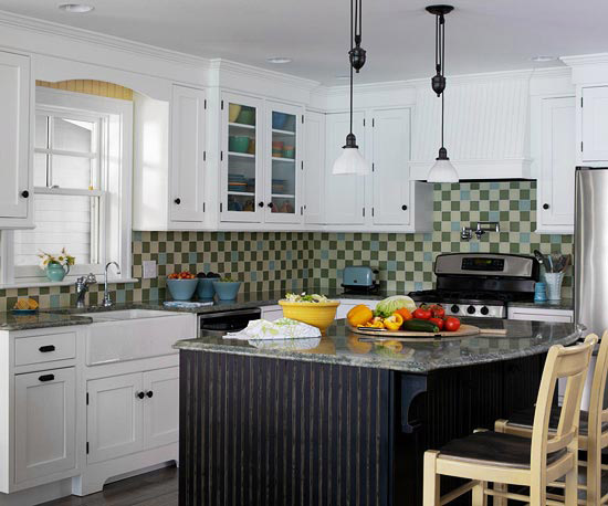 Beauty and the Green: Bold & Beautiful Kitchen Color