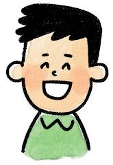 男性の表情のイラスト(笑い)