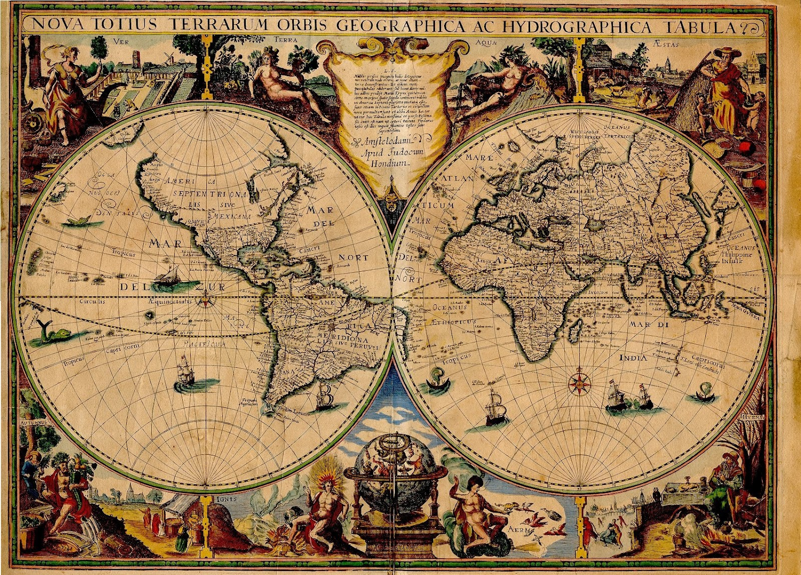 Ancient World Maps World Map 17th Century