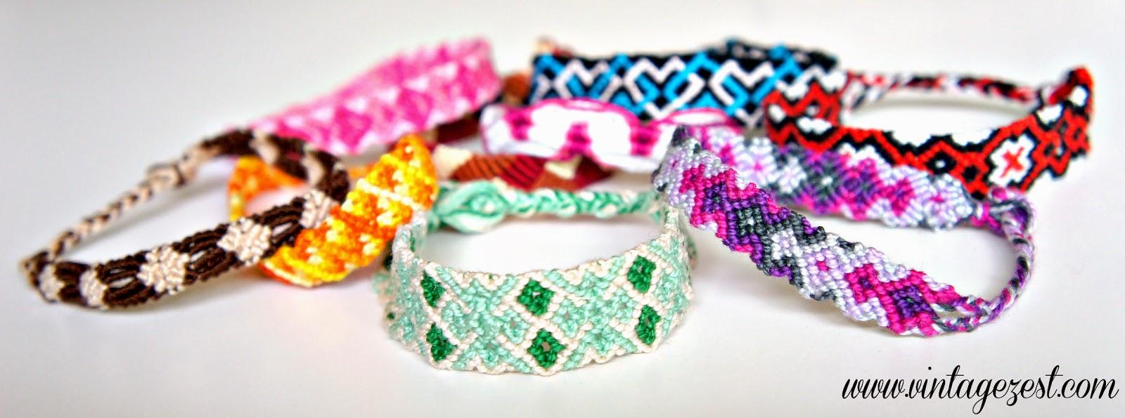 Craft Rewind: Friendship Bracelets on Diane's Vintage Zest!