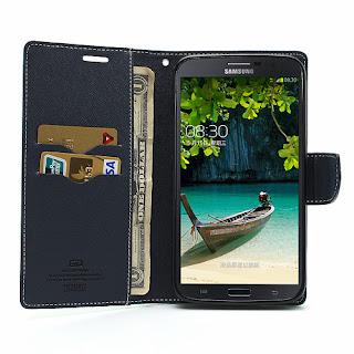 Mercury Goospery Fancy Diary Wallet Leather Case for Samsung Galaxy Mega 6.3 I9200 I9208 - Baby Green
