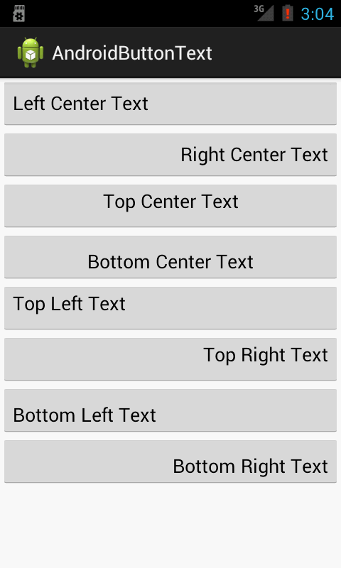 Android development tutorials for beginners android text for Text align top