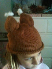 Sally models turkey trot cap!