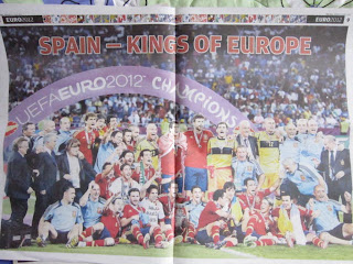 Euro 2012 2008 World Cup Soccer Football Spain winners Italy finals Poland Ukraine Spanish