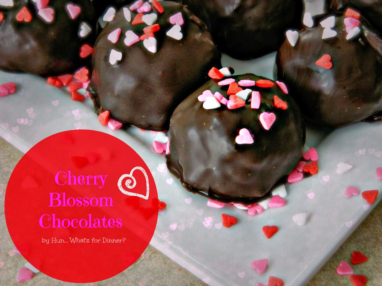 Cherry Blossom Chocolates- a childhood favourite made new again. www.hunwhatsfordinner.com