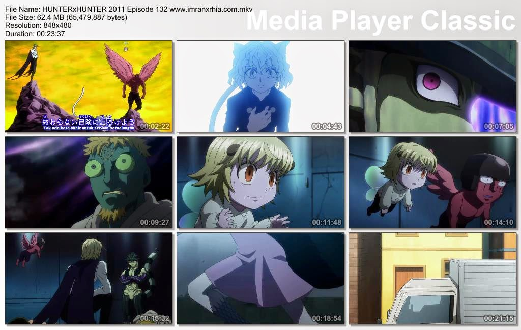 "Download Film / Anime Hunter x Hunter 2011 Episode 132 ""Kilatan Cahaya dan Awal"" Bahasa Indonesia"