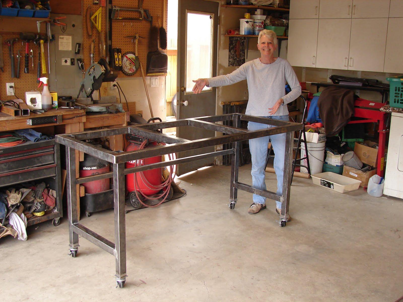 Металлические верстаки для гаража своими руками