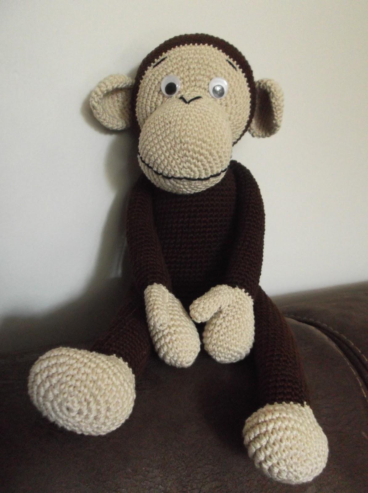 Haakydee Gehaakte Knuffel Aap Amigurimi Monkey