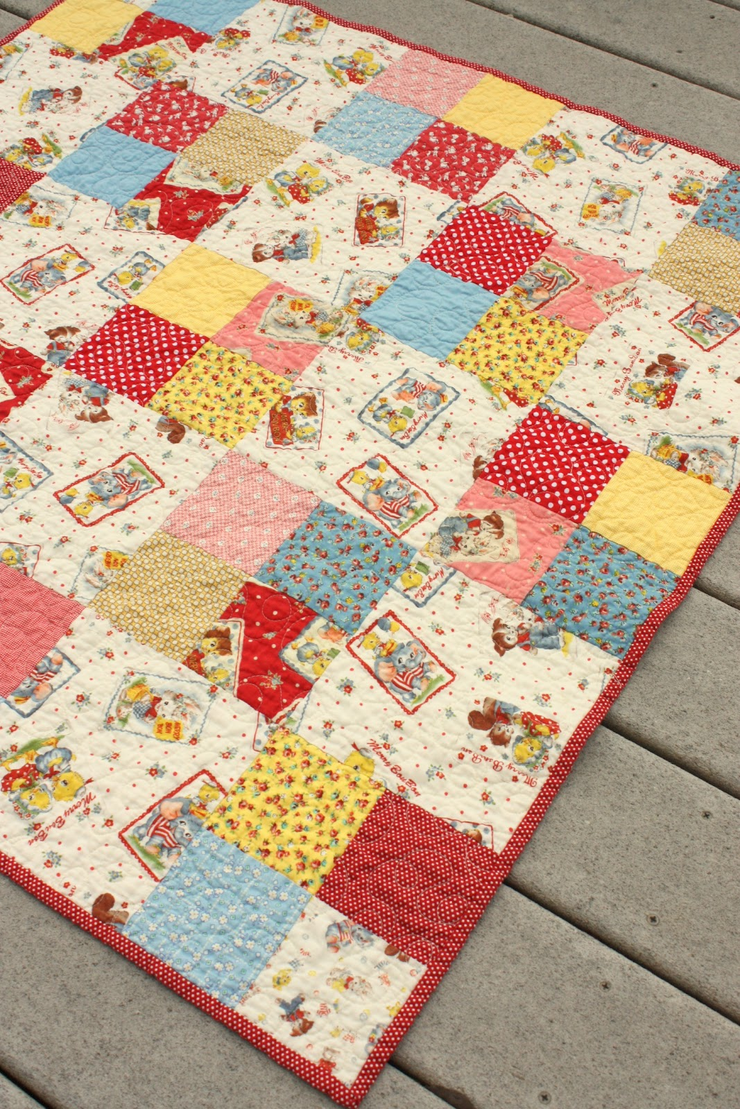 Vintage Baby Quilt Patterns Free : Simple Four-patch Baby Quilt - Diary of a Quilter - a quilt blog