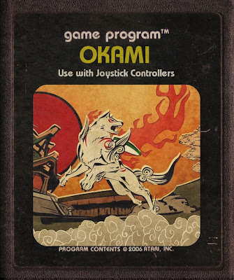 Okami art game Fita Cartucho de Atari 2600 Japan