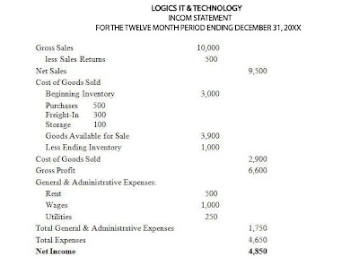 Logics IT & Technology Software House Income Statement
