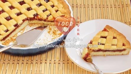 Pasta Frolla (Jam Shortbread or cake) باستا فلورا أو المبروشة