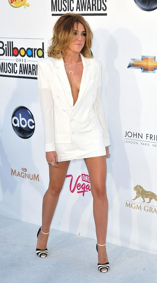 Miley Cyrus leaving the white carpet at 2012 Billboard Music Awards