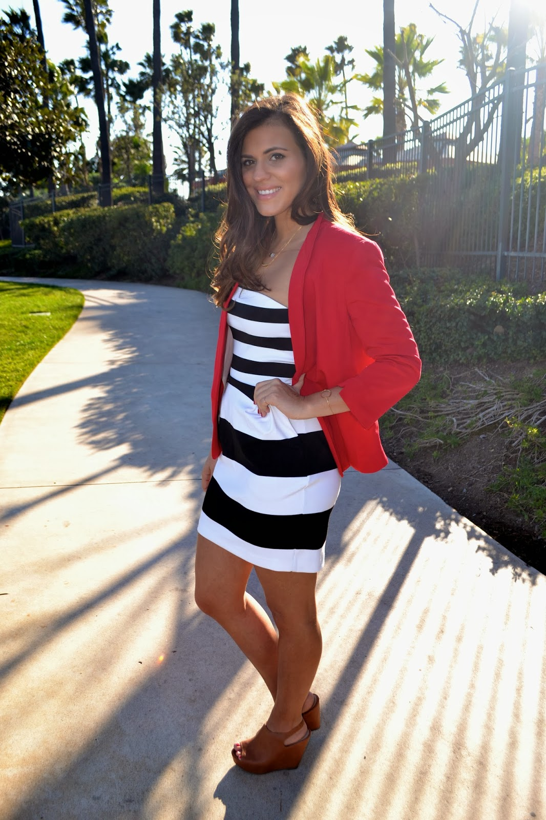 f598e3fbf5ea I m a little obsessed can you tell  Paired with festive red blazer