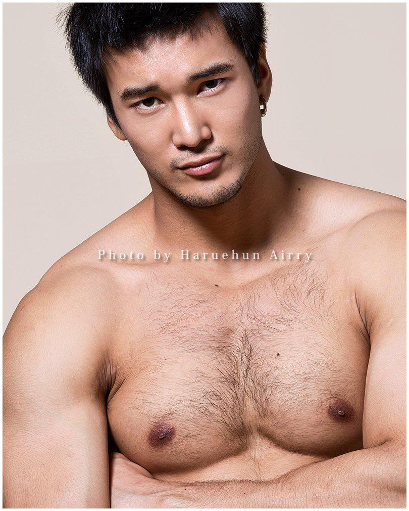 Asian hairy chest