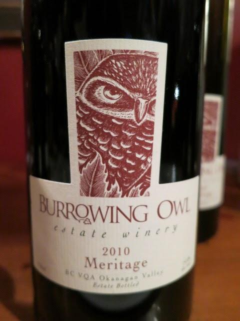 Wine Review of 2010 Burrowing Owl Meritage from BC VQA Okanagan Valley, British Columbia, Canada (90 pts)