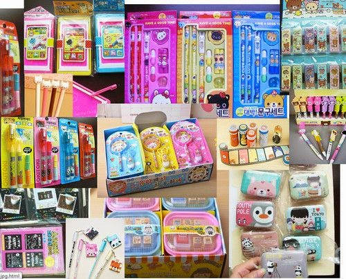 Material escolar, Coisas Kawaii, Crazy and Kawaii Desu, Kawaii Desu, cute, Book,Pencil,Bag,Organization,
