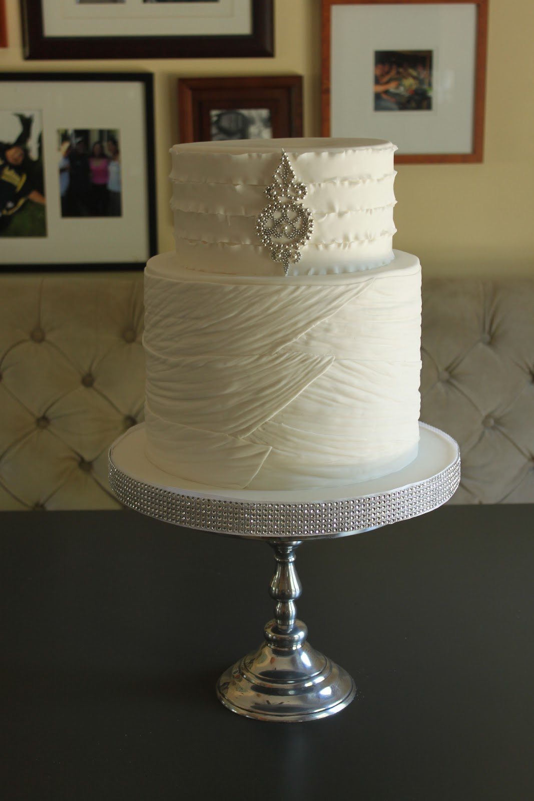 Bridal Gown Themed Wedding Cake Just The Frosting