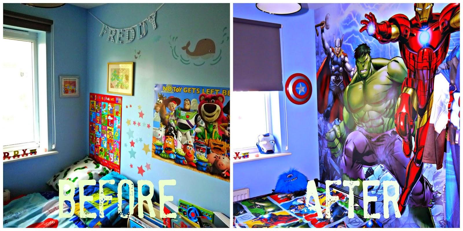 Inside the wendy house freddy 39 s avenger 39 s bedroom makeover using dulux bedroom in a box - Avengers bedroom ...