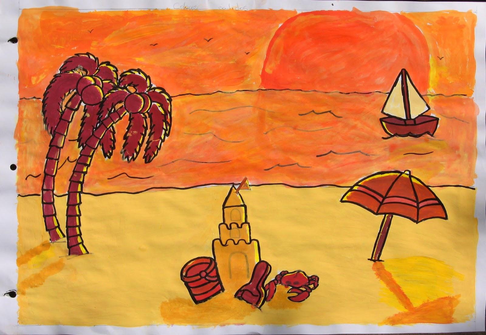 El blog de analia silva septiembre 2013 - Cuadros con colores calidos ...