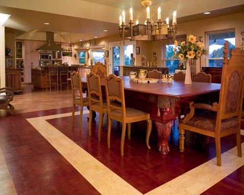 emejing flooring for dining room photos - democracyapps