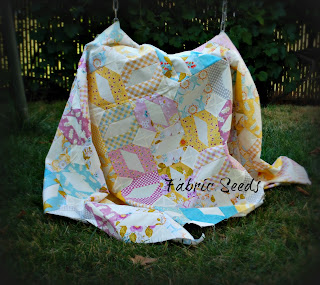 Patchwork quilt top at Fabric Seeds